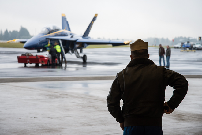 United States Navy Blue Angel #7 Visits Hillsboro Airport