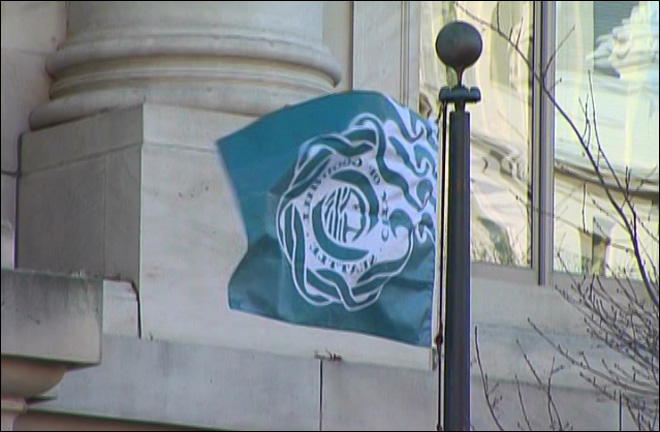 Seattle flag flies proudly over D.C. after Seahawks win