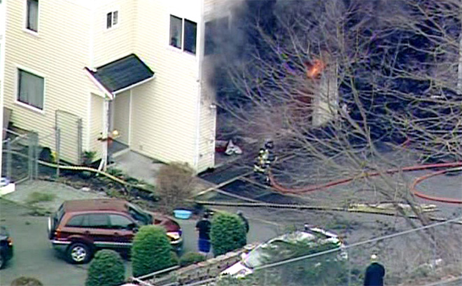 Flames torch South Seattle home