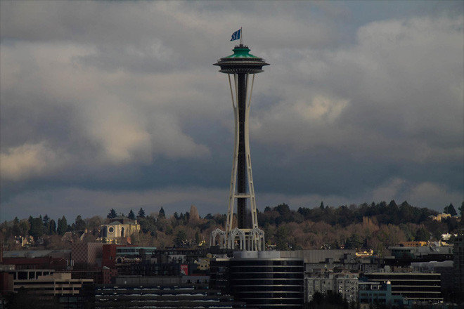 Space Needle salutes 12th Man
