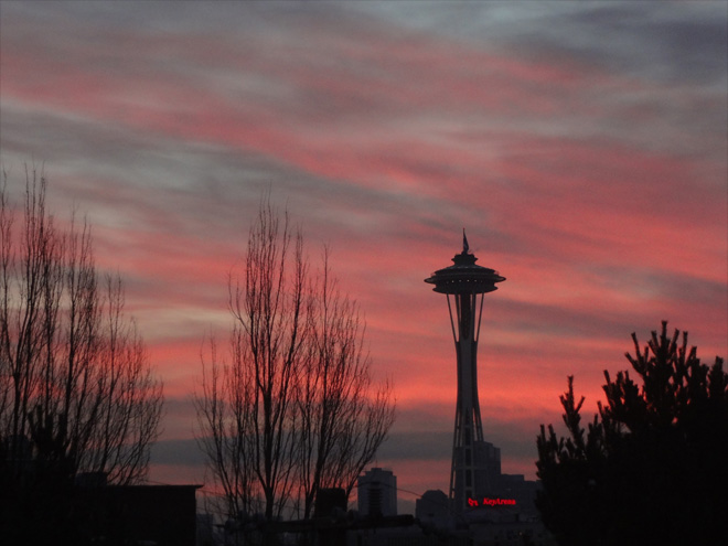 Space Needle Sunrise