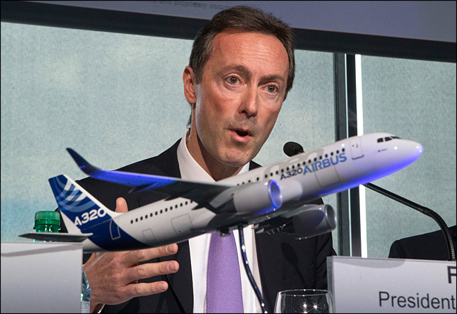 Airbus reports record deliveries in 2012