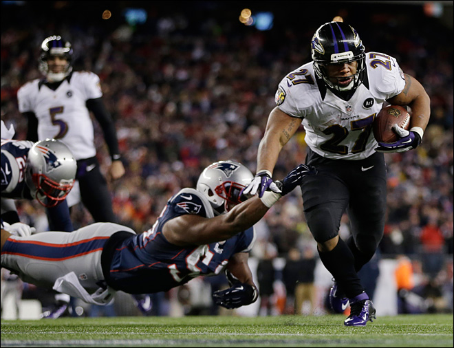 Ravens upset Patriots 28-13 to make Super Bowl