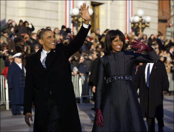 Time to act, Obama declares, taking oath 2nd time