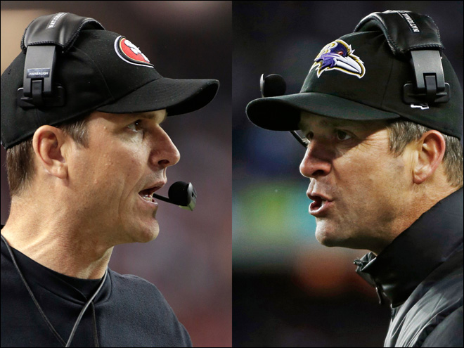 Jim, John Harbaugh ready for rematch at Super Bowl