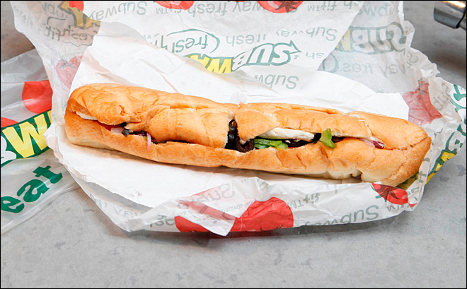 Subway sorry its 'Footlong' came up short