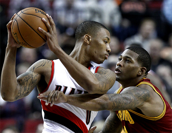 Cavaliers Trail Blazers Basketball