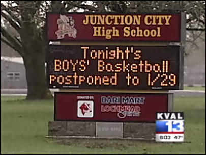 High school basketball game postponed due to illness