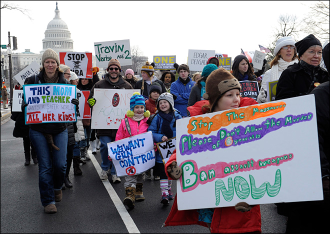 Thousands march for gun control in Washington, D.C.