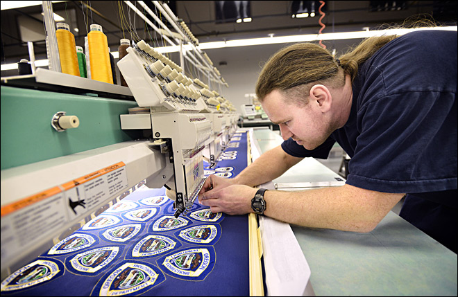 Inmates on embroidery: 'We take a lot of pride in what we do'