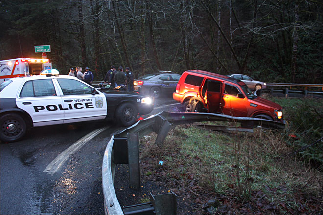 Police chase ends when suspects crash SUV