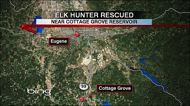 Rescuers located elk hunter after call for help