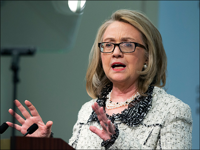Clinton leaves office with slap at Benghazi critics