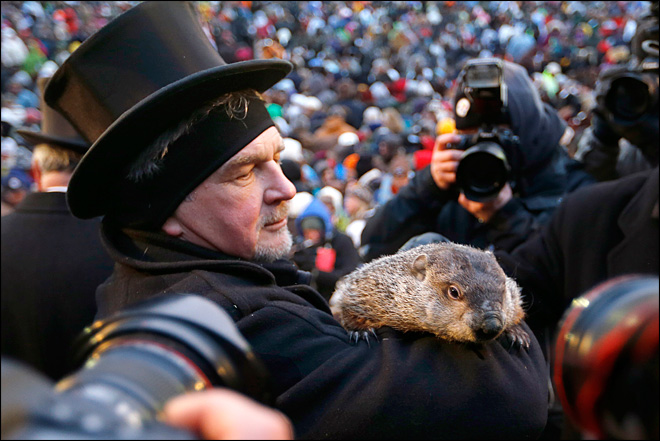 Groundhog Day: Pa.'s Punxsutawney Phil predicts early spring