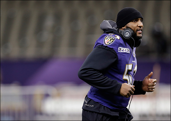 Ray Lewis' last game on Super Bowl Sunday