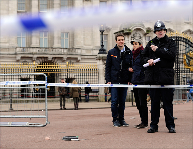 Stun gun used on armed man near Buckingham Palace
