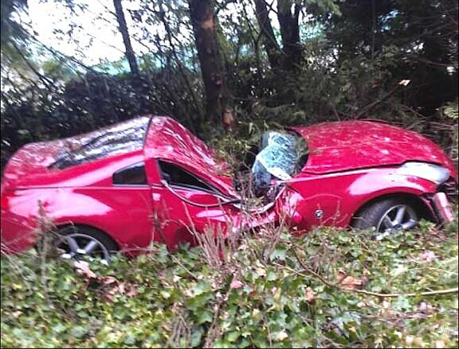 WSP: Car slams into tree after passing cars at 100 mph down I-5