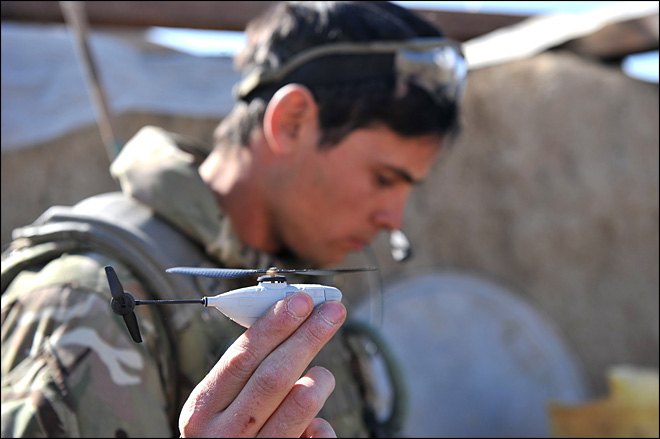 UK sends hand-held helicopter drones to war zone