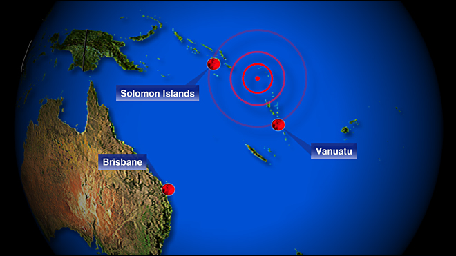 Small tsunami hits Solomons, other warnings ended