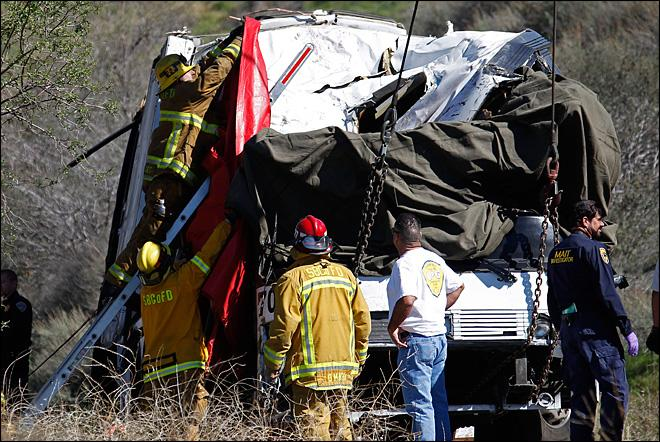 Brakes become key issue in deadly Calif. bus crash