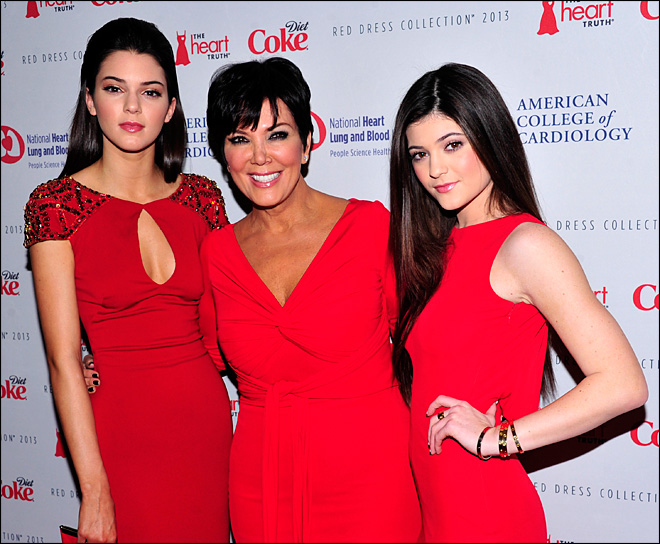 Braxton, Osbourne and Jenners do Red Dress runway