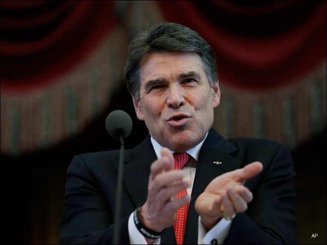 Texas Gov. Rick Perry indicted for coercion for veto threat