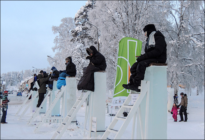 Winners battle cold, boredom in Swedish ice-sitting contest