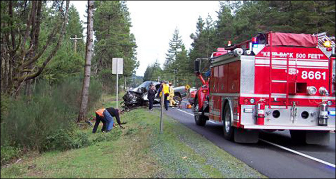 OSP: Man dies, wife injured in crash on Hwy 101