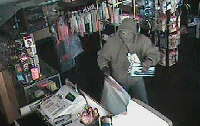 Masked man steals $1,500 in adult toys from sex shop