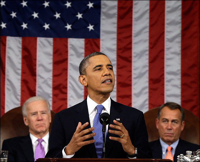 Obama says nation is stronger, asks GOP to back his plans