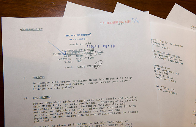 Declassified documents show Nixon's close ties with Clinton