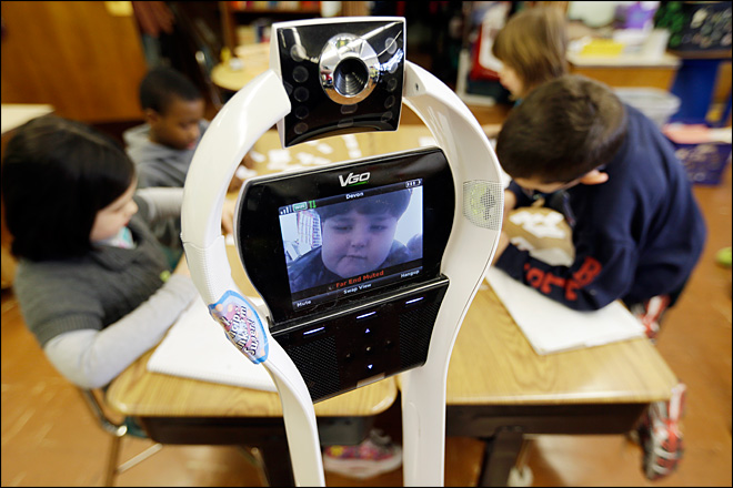 My classmate, the robot: Pupil attends remotely