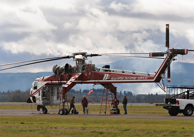 Helicopter company leaves Corvallis airport