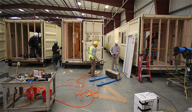 New jobs turn shipping containers into emergency housing
