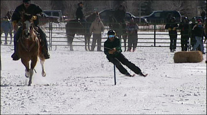 Ski joring: &#39;Drink a little whiskey and be ready to eat it hard&#39;
