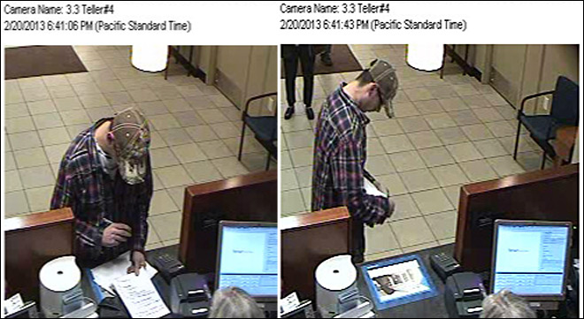 Do you recognize this man? Police photos of robbery suspect