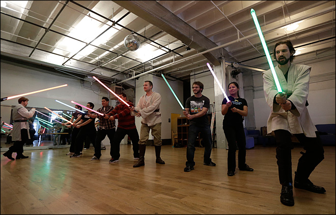 Star Wars fans feel the Force at light saber class