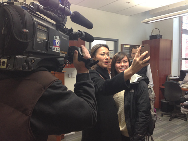 Video: Ann Curry visits UO