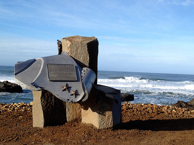 New coastal marker both memorial and safety warning