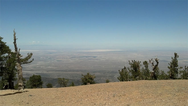 Overlooking the Mojave Desert