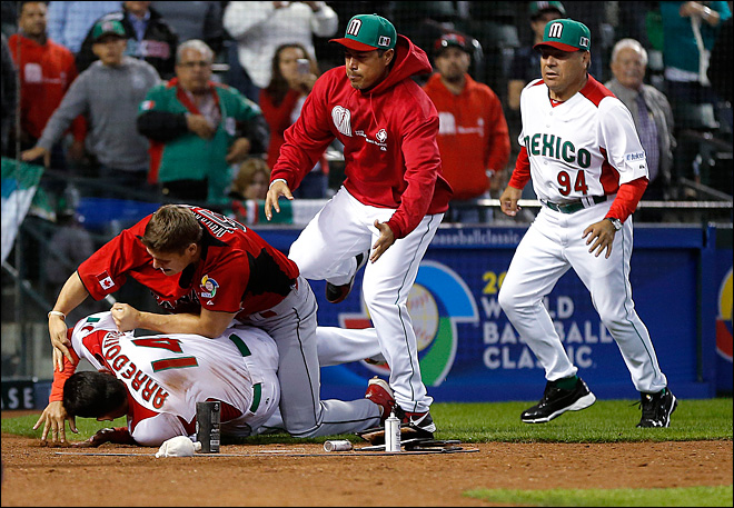 Fierce brawl mars Canada's 10-3 baseball win over Mexico