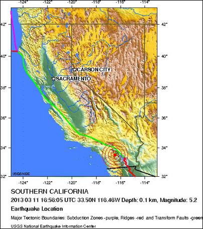 No damage from 4.7 quake southeast of LA