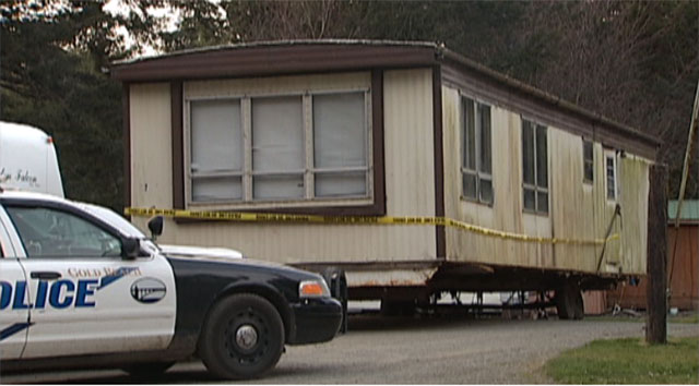 Human skull found under mobile home