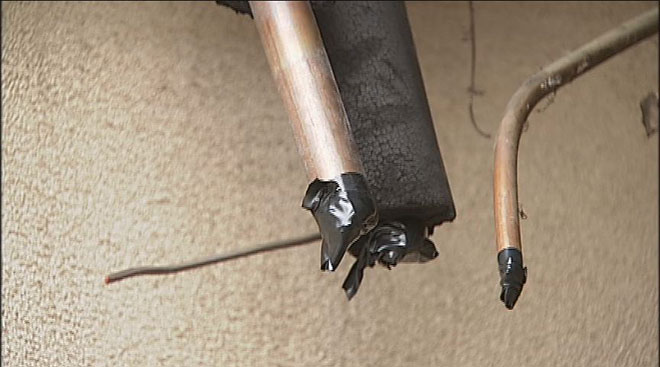 Thieves rip wires from charity's building