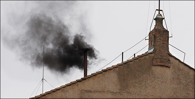 Black smoke again as Cardinals remain divided on pope