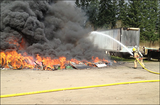Ridgefield tire fire a challenge for firefighters