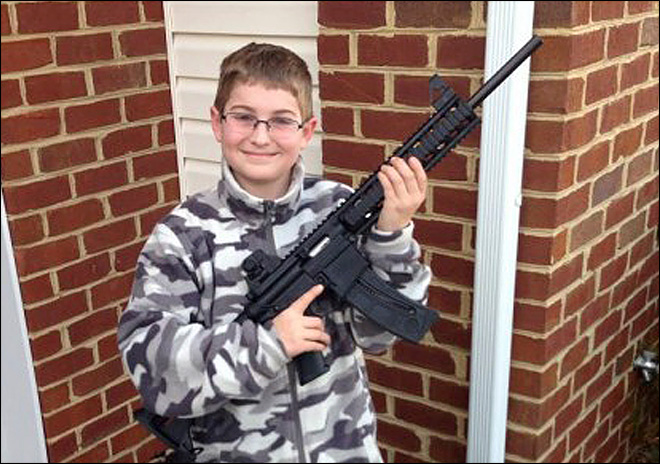 Photo of boy's birthday gun leads to child welfare investigation