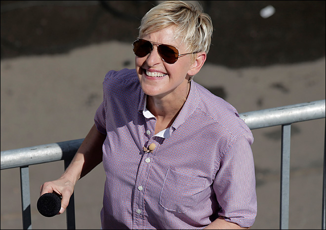 Ellen DeGeneres wows audience for Aussie filming