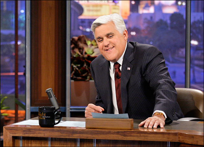Leno makes meal of NBC bosses in monologue