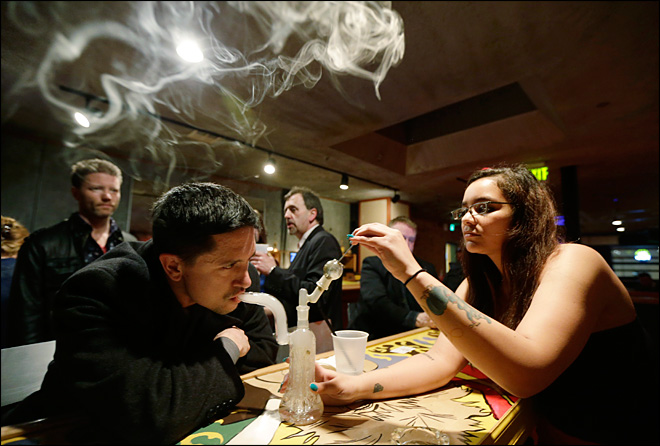 Bars test limits of legal-marijuana laws